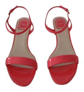 Dior Coral Tone Caged Heel Design Made Elegant Made In Italy Pink Sandals