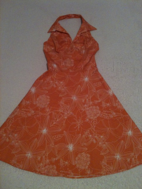 Speechless short dress Orange & White Halter-top Floral Pattern Summer on Tradesy Image 4