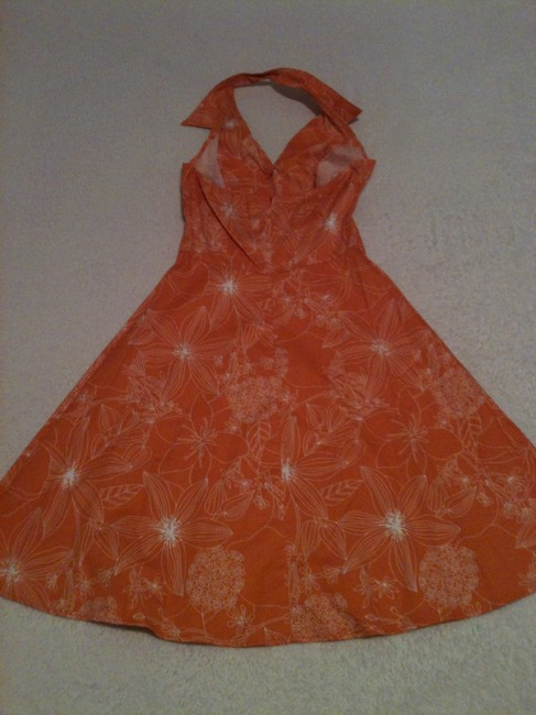 Speechless short dress Orange & White Halter-top Floral Pattern Summer on Tradesy Image 5