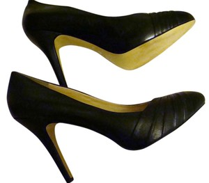 Nine West Leather High Heel Black Pumps