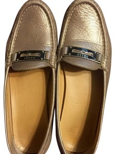 Bally Silver Metallic Flats