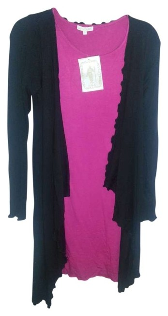 Preload https://item2.tradesy.com/images/my-tribe-black-and-pink-nwtmy-tribecardigan-dresspink-knee-length-workoffice-dress-size-12-l-134286-0-0.jpg?width=400&height=650