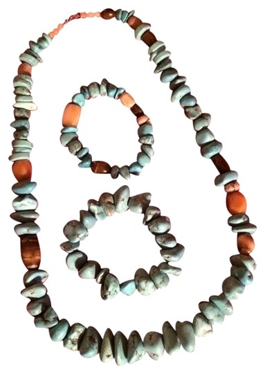 Preload https://img-static.tradesy.com/item/1342867/mine-finds-by-jay-king-turquoisesterling-silver-real-long-necklace-and-2-bracelets-set-0-0-540-540.jpg