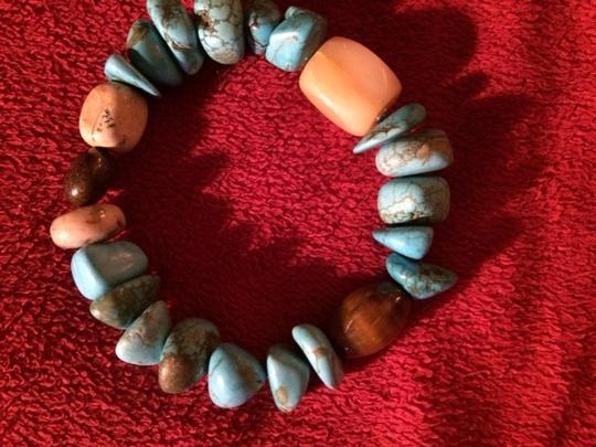 Mine Finds by Jay King REAL Turquoise Long Necklace & 2 BRACELETS SET