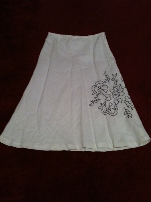 richard malcolm Linen Casual Never-worn Summer Skirt White Image 1