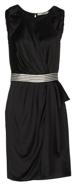Item - Black Sequin Waist Knee Length Night Out Dress Size 12 (L)