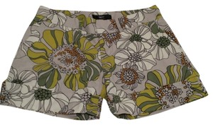 Mossimo Stretchy Cotton Floral Cuffed Shorts multi color