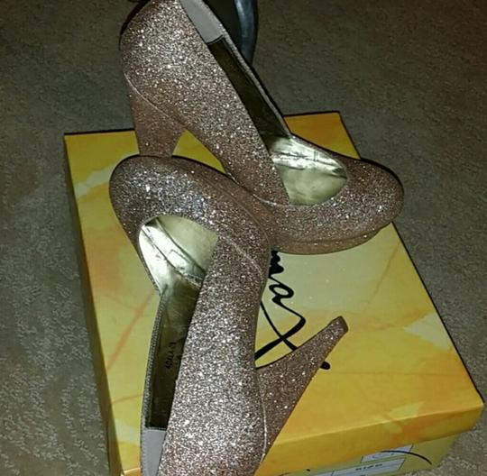 Gomax Heels Dress Glitter Heels Platforms gold Pumps