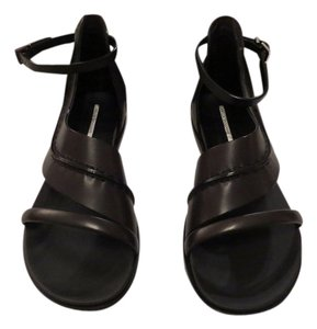 Camilla Skovgaard Pick Stitch Detail Curving Foot Strap Contoured Footbed Made In Italy Dark Brown Sandals