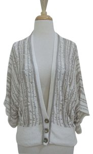 Nanette Lepore Dolman Neutral Lacy Cardigan 3/4 Sleeve Sweater