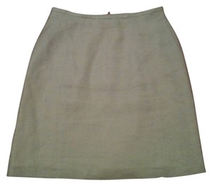 Etam Business-casual Summer Linen Lined Skirt Beige