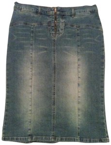 Rampage Jean Company Denim Hip-hugging Skirt Blue