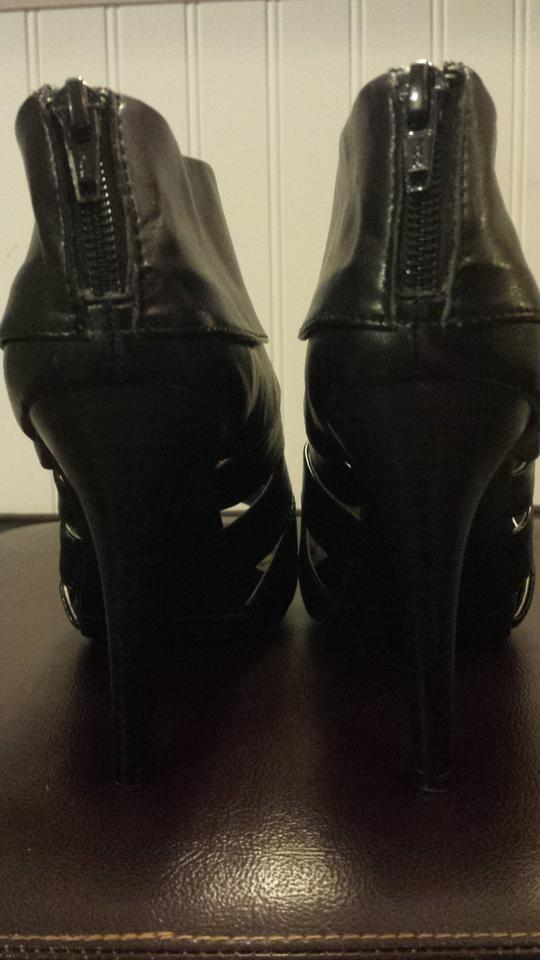 99984f6e27c5 Mossimo Supply Co. Black Peep Toe Ankle Boots Booties Size US 6.5 ...