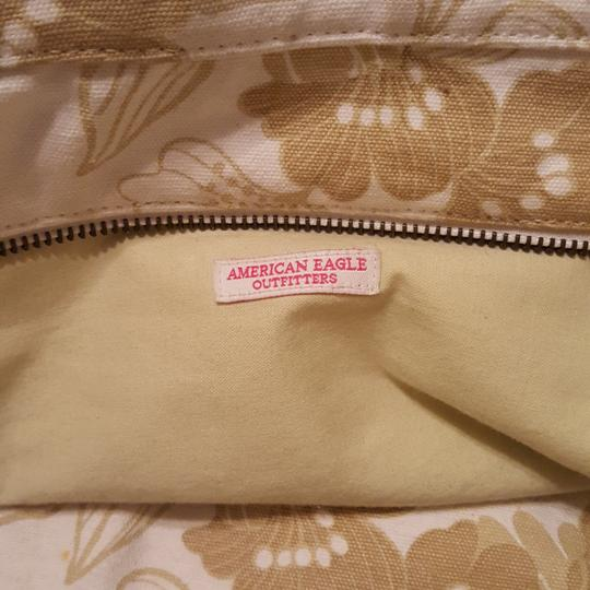 American Eagle Outfitters Leather Straps Beads Sequins Tote in Tan and white Image 5