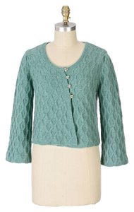 Anthropologie Blue Crystal Knit Cardigan