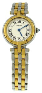Cartier Cartier 18K Yellow Gold Two Tone Stainless Steel Quartz Ladies Womens Watch