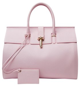 Balenciaga Tube-clasp Gold Tote in Rose Pink