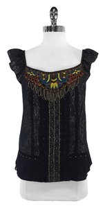 Nanette Lepore Black Gold Detailed Top