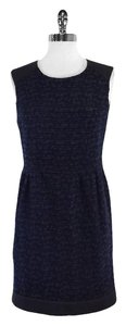 Sandro short dress Blue Black Tweed on Tradesy
