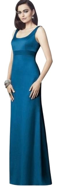 Dessy Ocean Blue 2901 Long Night Out Dress Size 6 (S) Dessy Ocean Blue 2901 Long Night Out Dress Size 6 (S) Image 1