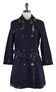 Tory Burch Navy Black Cotton Coat