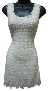 Yoon short dress white Crochet Above The Knee on Tradesy