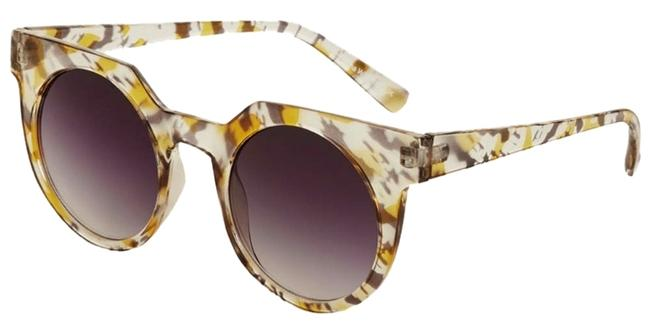 Item - Yellow Printed New with Tags Luca Squared Round Sunglasses