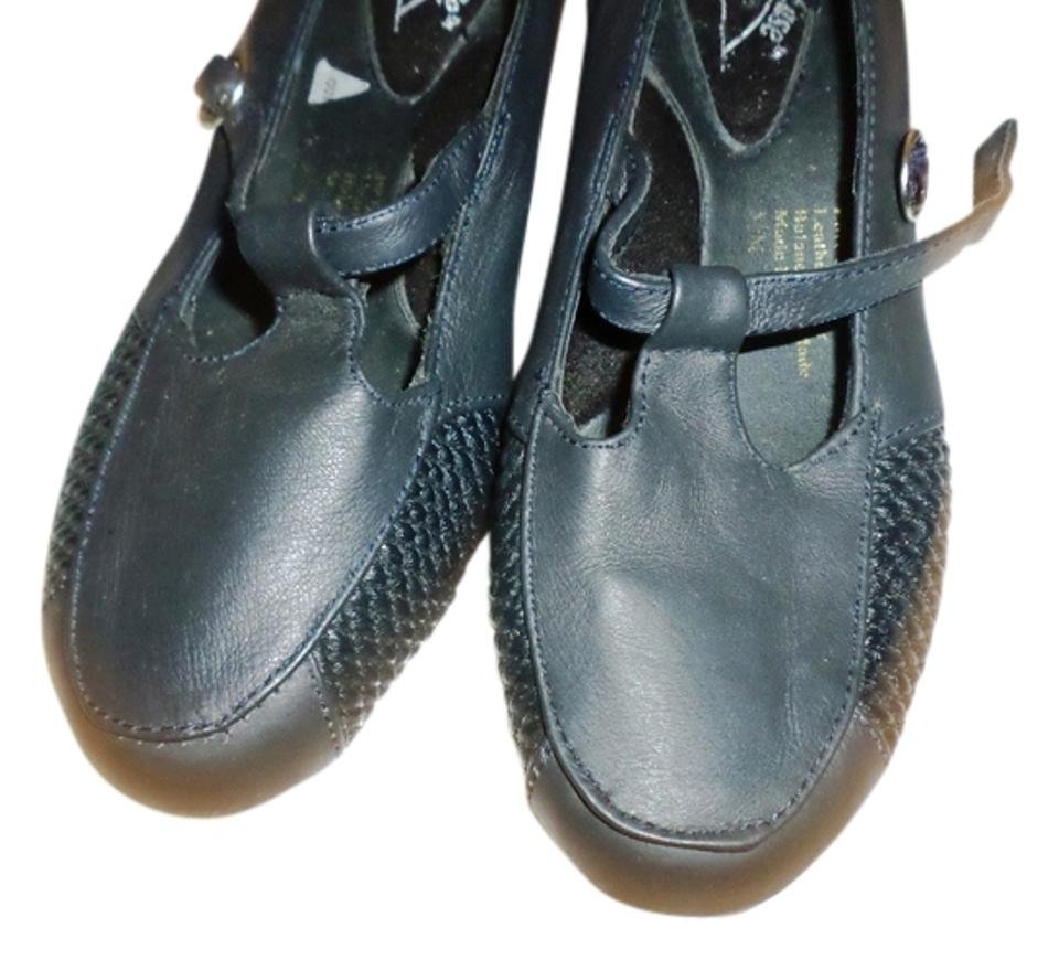 Black Cushion Ease Janes Leather Low Chunky Mary Janes Ease Strappy Buckle Dress Pumps b19390