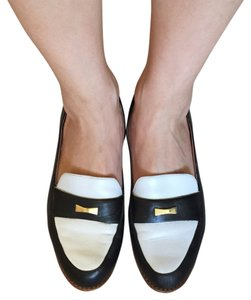 Kate Spade Black/White with Gold accent Flats