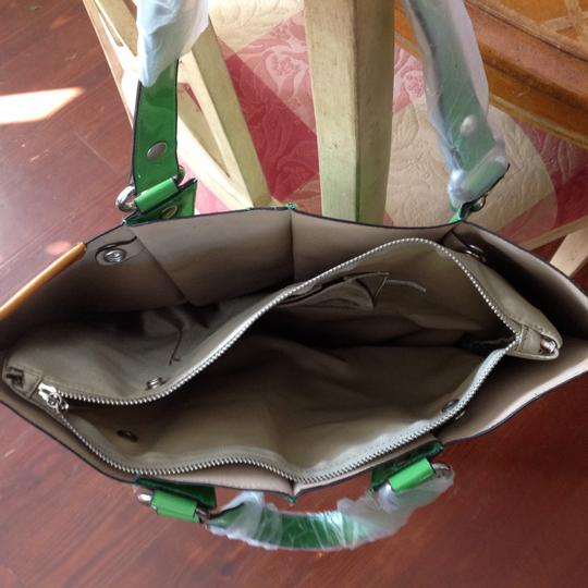 Other Next Day Shipping Shiny Spring Tote in Kelly Green Image 1
