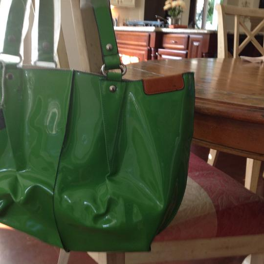 Other Next Day Shipping Shiny Spring Tote in Kelly Green Image 3