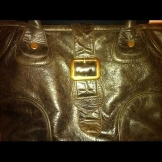 JJ Winters Celeb Brand Leather Hobo Purse Hippie Buckle Satchel in Brown