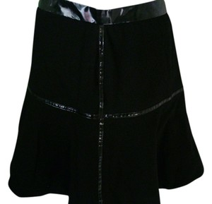 Marc Jacobs Leather Skirt black w/pleather trim