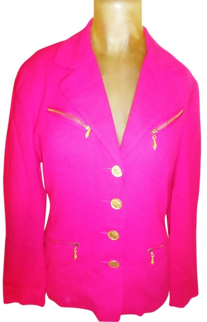 Preload https://img-static.tradesy.com/item/13435525/renlyn-new-york-in-pink-woman-wool-lined-jacket-w-gold-detailing-and-skirt-blazer-size-4-s-0-1-650-650.jpg