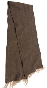 Barneys New York Barneys New York Grey Wool Tweed Scarf
