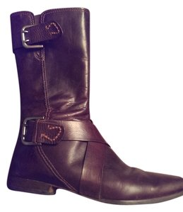 True Religion Leather Womens Rich dark brown Boots