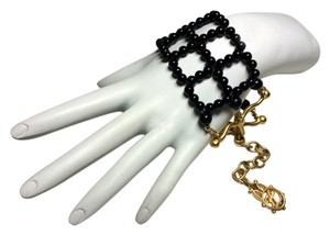 Karl Lagerfeld Authentic Karl Lagerfeld Vintage Excellent Black Bead Cuff Bracelet