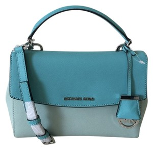 Michael Kors Ava Messenger Satchel in Celedon/azure