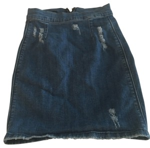 bebe Mini Skirt Blue denim