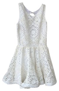 Alexis Lace Mini Wedding Dress