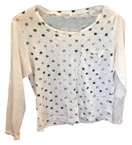 Anthropologie T Shirt Black and white