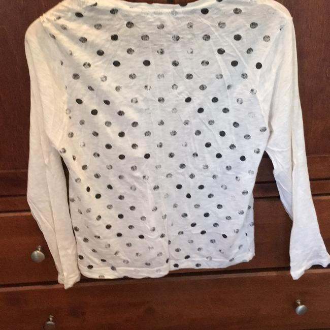 Anthropologie T Shirt Black and white Image 3