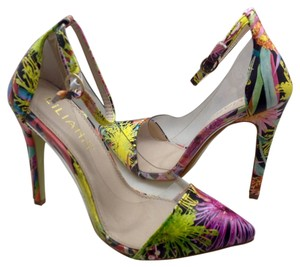 Liliana Stiletto Party Ankle Strap Pointy Toe Floral Sandals