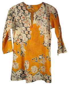 Other Print Tory Burch Cotton Floral Tunic
