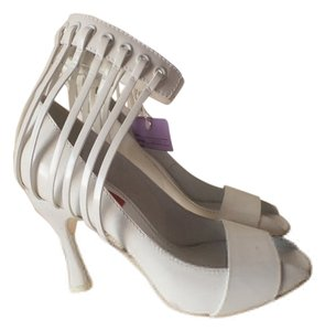 Missoni Prom Formal Italy Strappy White Pumps