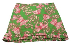 Lilly Pulitzer Skirt Green, Pink, and White