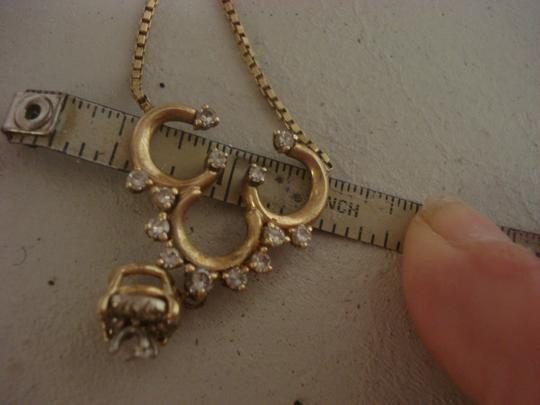 Other 14K Gold 3 Diamond Horseshoes Horse Shoes NECKLACE 10 Grams TW.