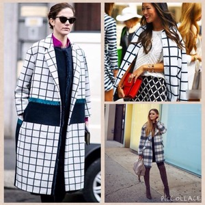 PAZZO Paris London Nyc Zara Sale Check Plaid Monochrome Chanel Valentine Holiday Gift Basic Coat Comfortable Essential Basic Cardigan