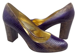 BCBGeneration Casual Pump Snakeskin Formal Purple Pumps
