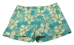 Lilly Pulitzer Shorts Teal, Aquamarine, white, and Yellow